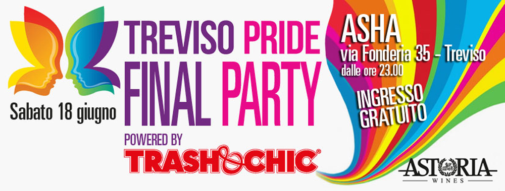 Party #TrevisoPride2016 - grafica evento